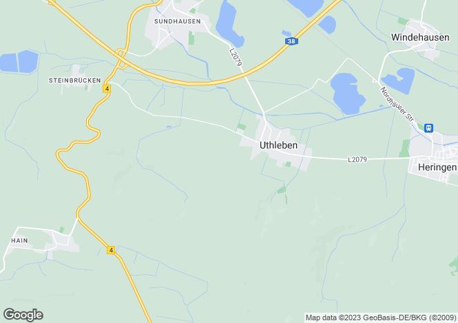 Map for Uthleben, Thuringia