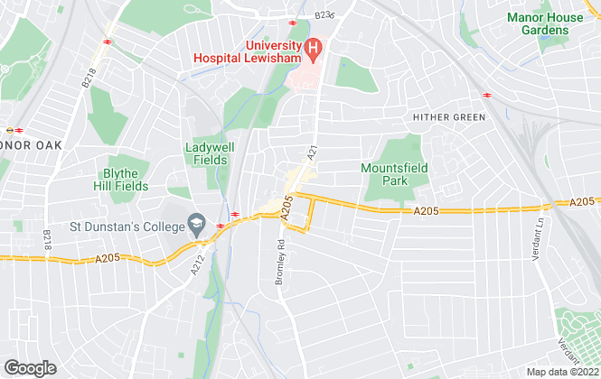 Map for Mann, Catford