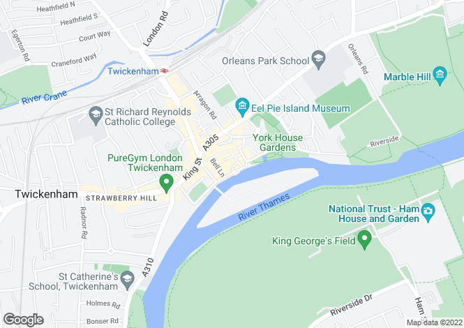 Map for The Embankment, Twickenham, TW1