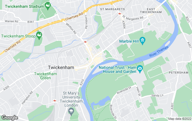 Map for Milestone & Collis , Twickenham
