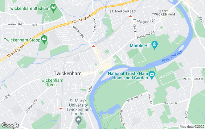 Map for Chase Buchanan, Twickenham