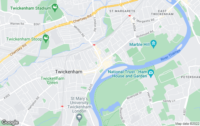 Map for Townends, Twickenham - Lettings