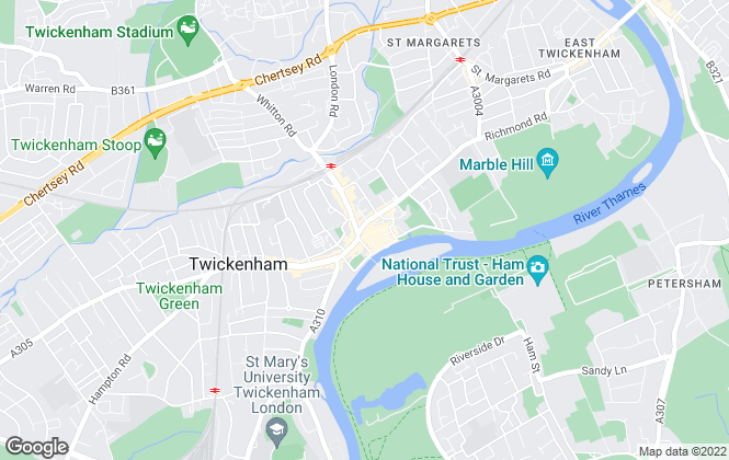 Map for Chase Buchanan, Twickenham & Strawberry Hill