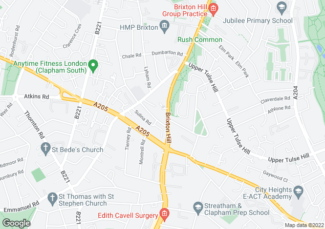 Map for New Park Court Brixton Hill  London London
