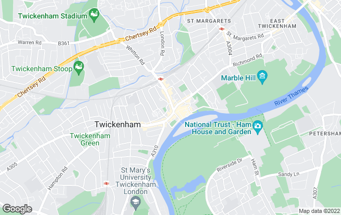 Map for Townends Lettings, Twickenham - Lettings
