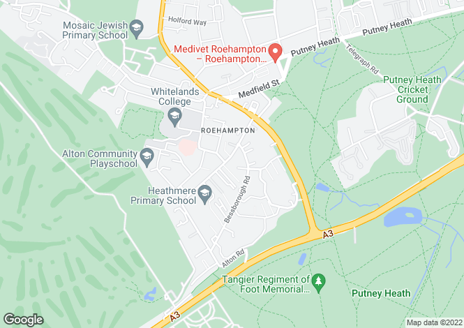 Map for Horndean Close, Roehampton, SW15