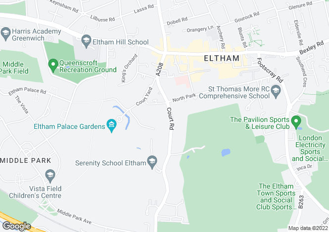 Map for Court Road, Eltham, London, SE9
