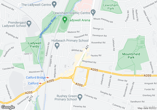 Map for Rushey Green, Catford, London, SE6 4HW