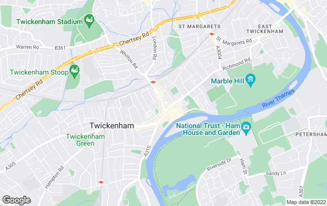 Map for Martin & Co, Twickenham - Lettings & Sales