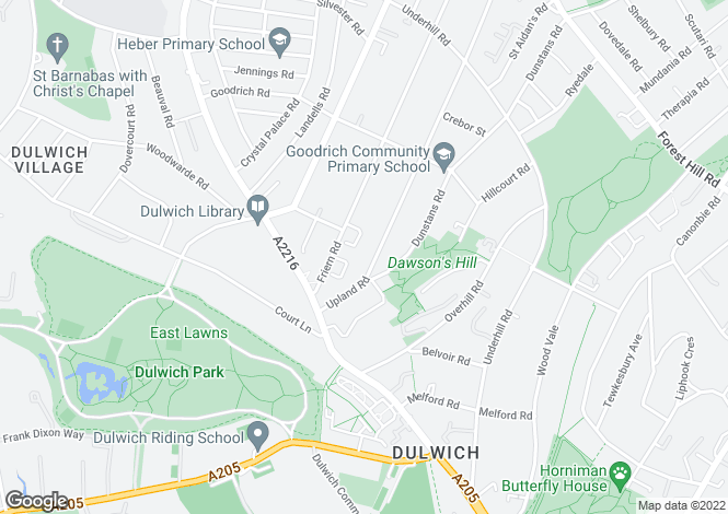 Map for Upland Road  East Dulwich