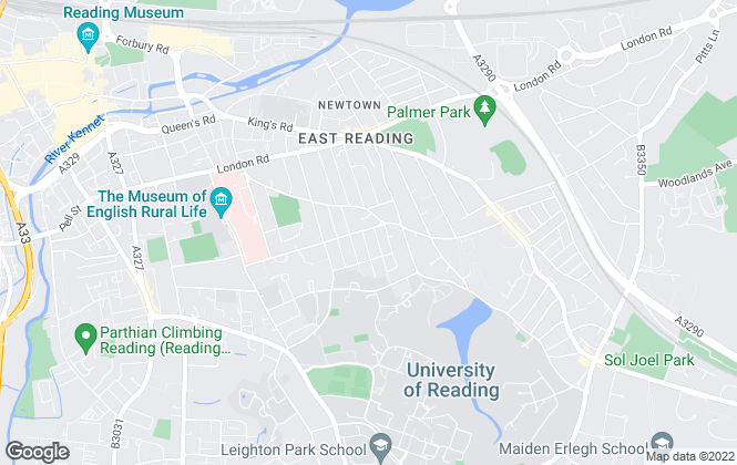 Map for Reading Lettings, Reading