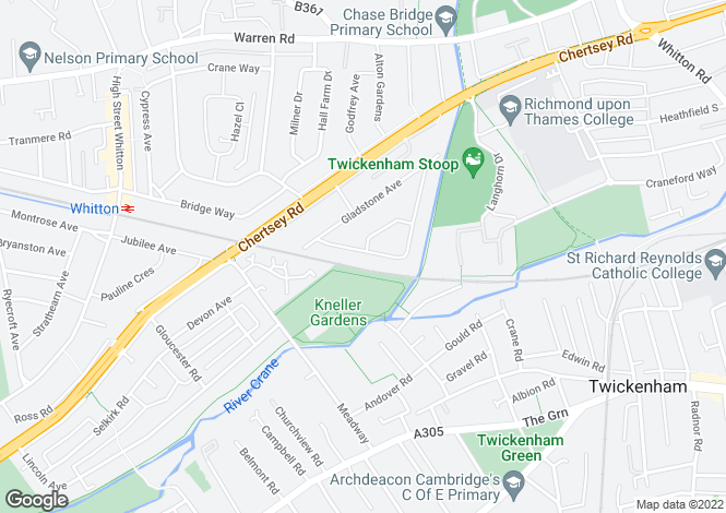 Map for Rosecroft Gardens, Twickenham