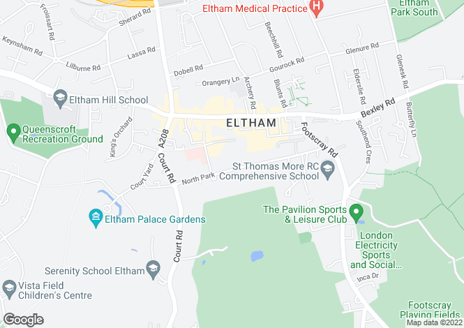 Map for North Park, Eltham, SE9