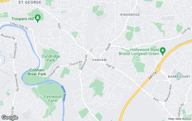 Map for D W Smith & Company, Hanham