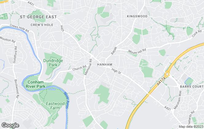 Map for Luna Move, Bristol