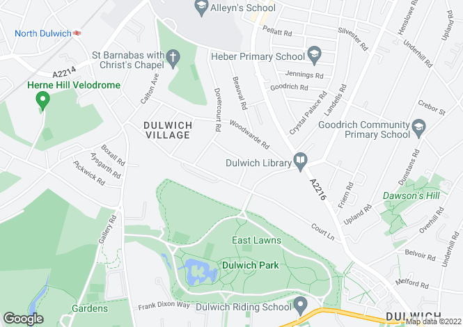 Map for Eastlands Crescent, Dulwich, London
