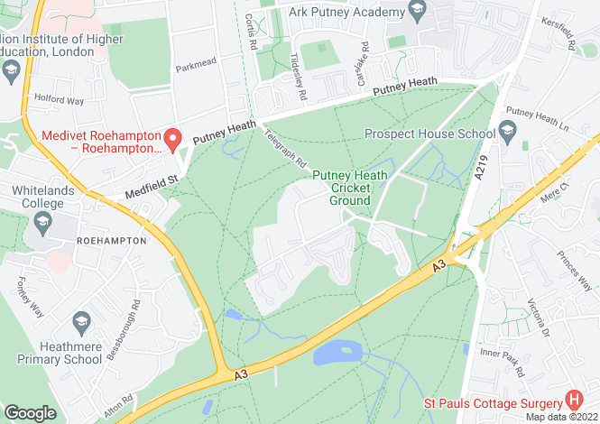 Map for Heathview Gardens, Putney, London, SW15