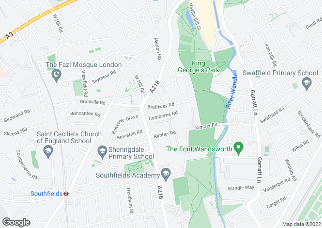 Map for Camborne Road London SW18
