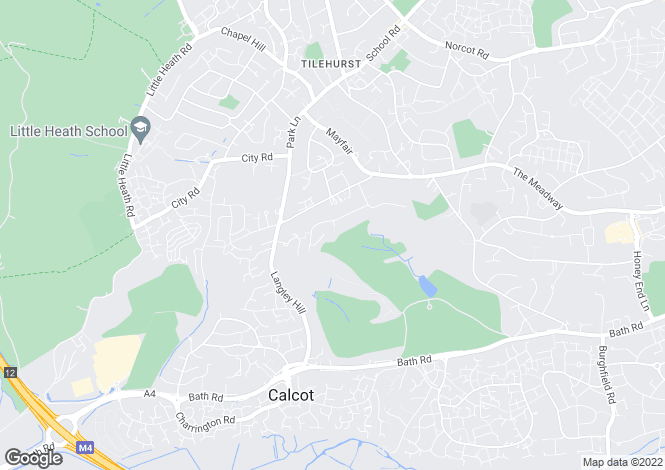 Map for Fairway Avenue, Tilehurst, Reading, RG30