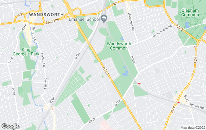 Map for John D Wood & Co. Sales, Wandsworth