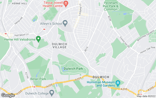 Map for Pickwick Estates, Dulwich