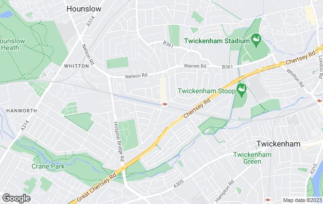 Map for Milestone Residential, Whitton