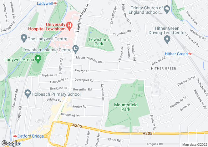 Map for George Lane, Hither Green