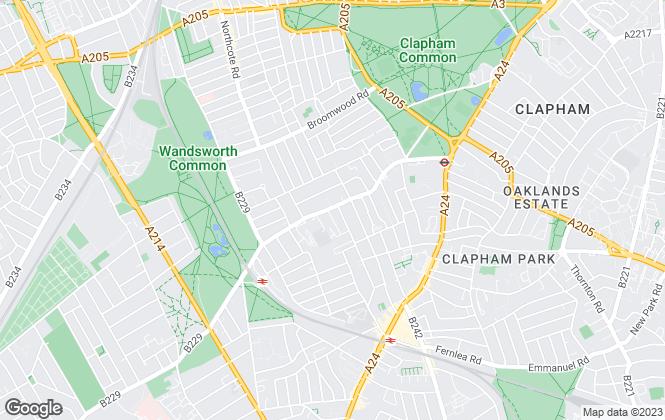 Map for Douglas & Gordon, Balham