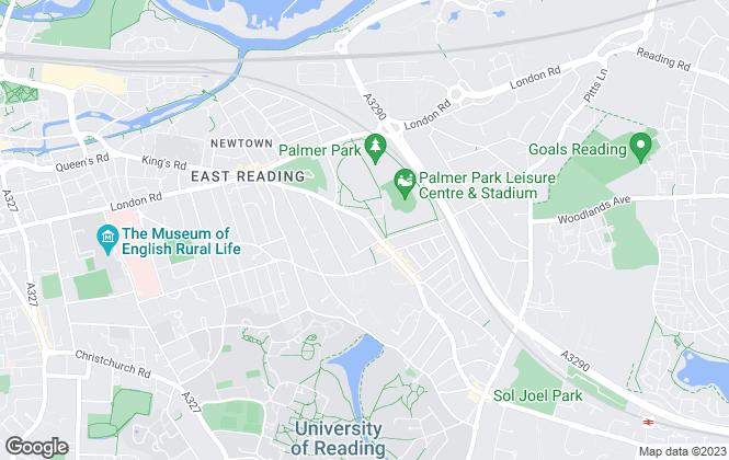 Map for Adams Estates, Reading