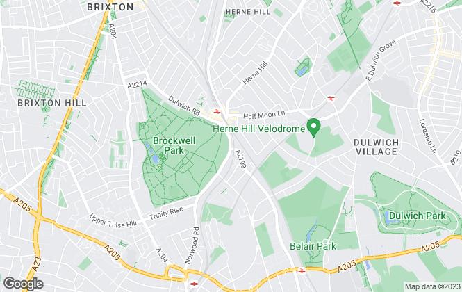 Map for Keating Estates, Herne Hill