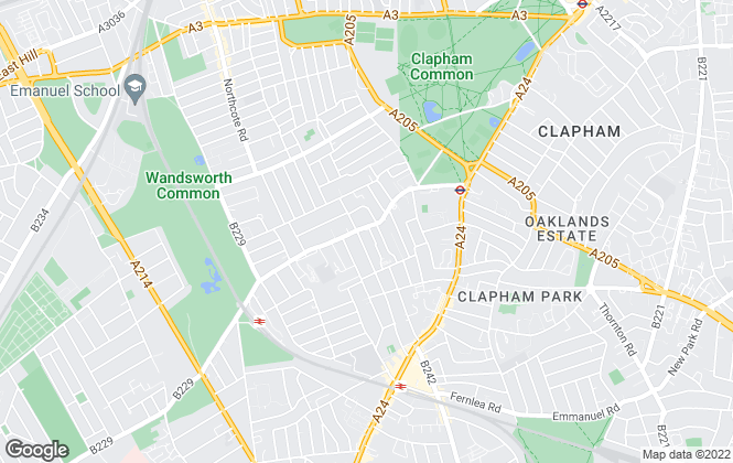 Map for Savills, Clapham