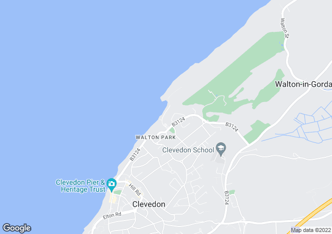 Map for Bay Road, CLEVEDON