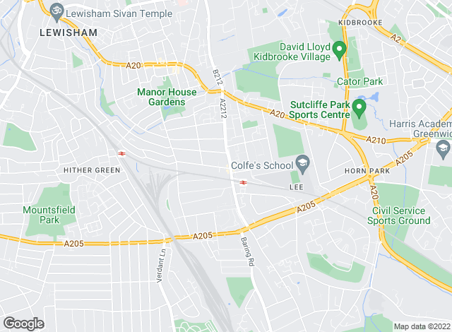Map for Mann Countrywide, Lee Green