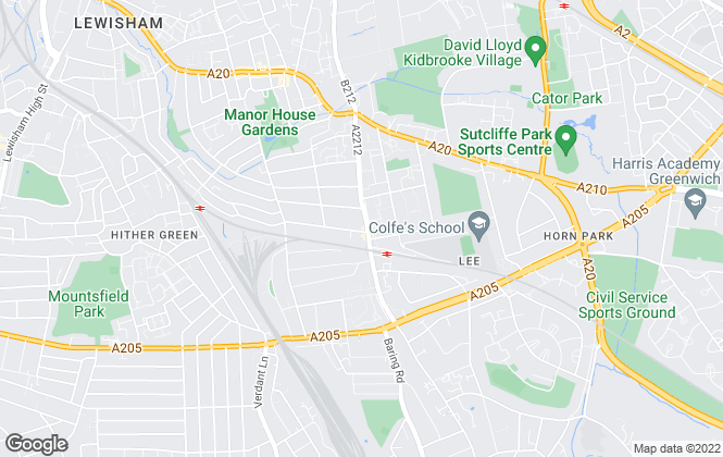 Map for Mann , Lee Green