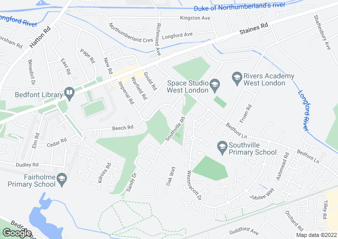 Map for Wooldridge Close, Feltham, Middlesex, TW14