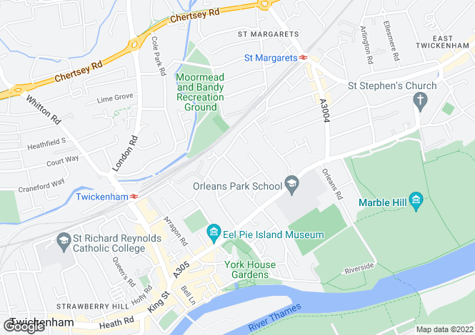Map for Twickenham, TW1