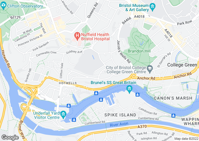 Map for Randall Road, Cliftonwood, Bristol, BS8 4TP