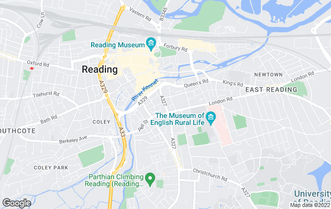 Map for Northwood, Reading