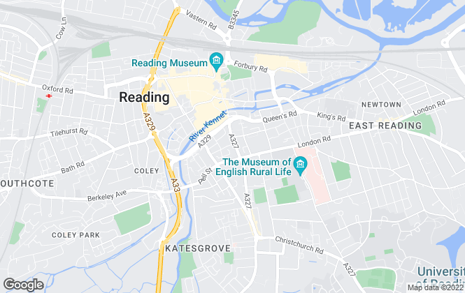 Map for RNR Properties, Reading