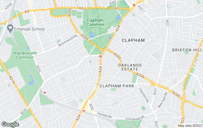Map for James Pendleton, Clapham South & Balham