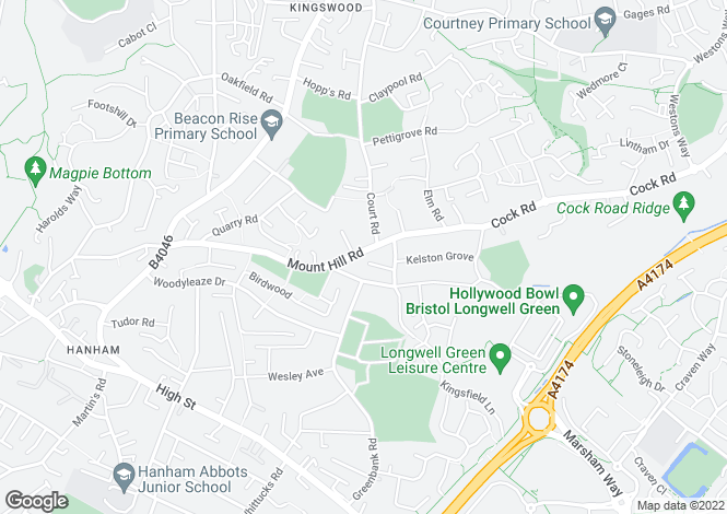 Map for Mount Hill Road, BRISTOL, BS15 8QR