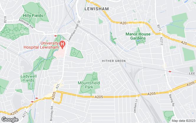 Map for Bryan & Keegan, Hither Green Lane