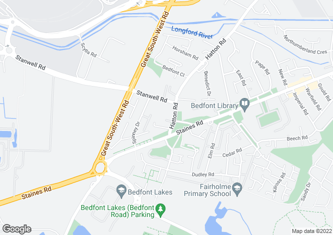 Map for Hatton Road, Bedfont