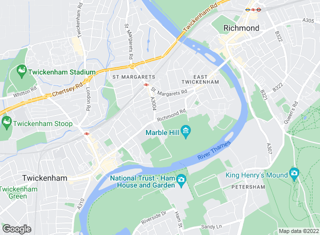 Map for Tenant Finder, St Margarets, Twickenham