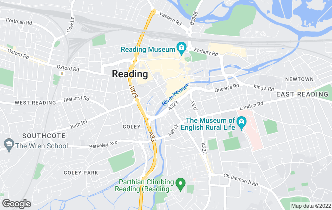 Map for Homes for Reading Limited, Civic Offices, Bridge Street, Reading