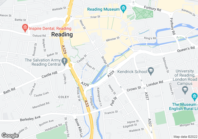 Map for Riverside House, Fobney Street, Reading, Berkshire, RG1