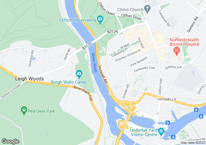 Map for Hotwell Road,Hotwells,BRISTOL,BS8 4NU
