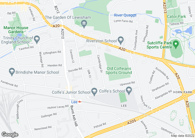 Map for Cambridge Drive, Lee, London, SE12