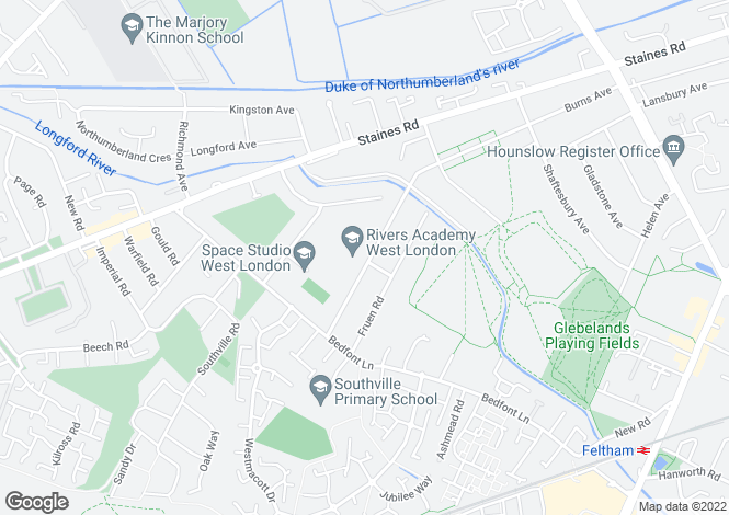 Map for Tachbrook Road, Feltham