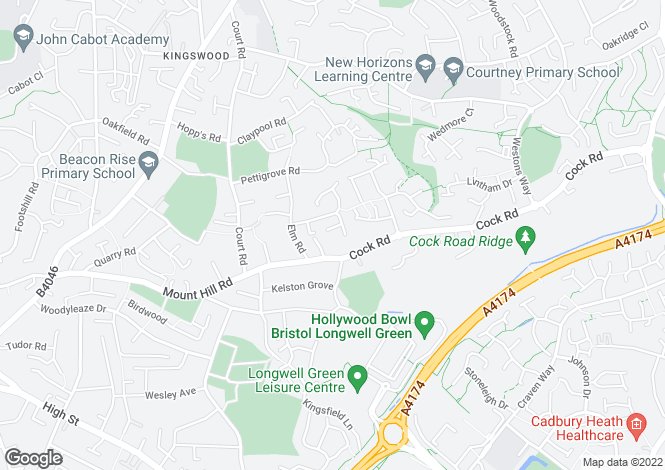 Map for Elmfield Close,  Kingswood